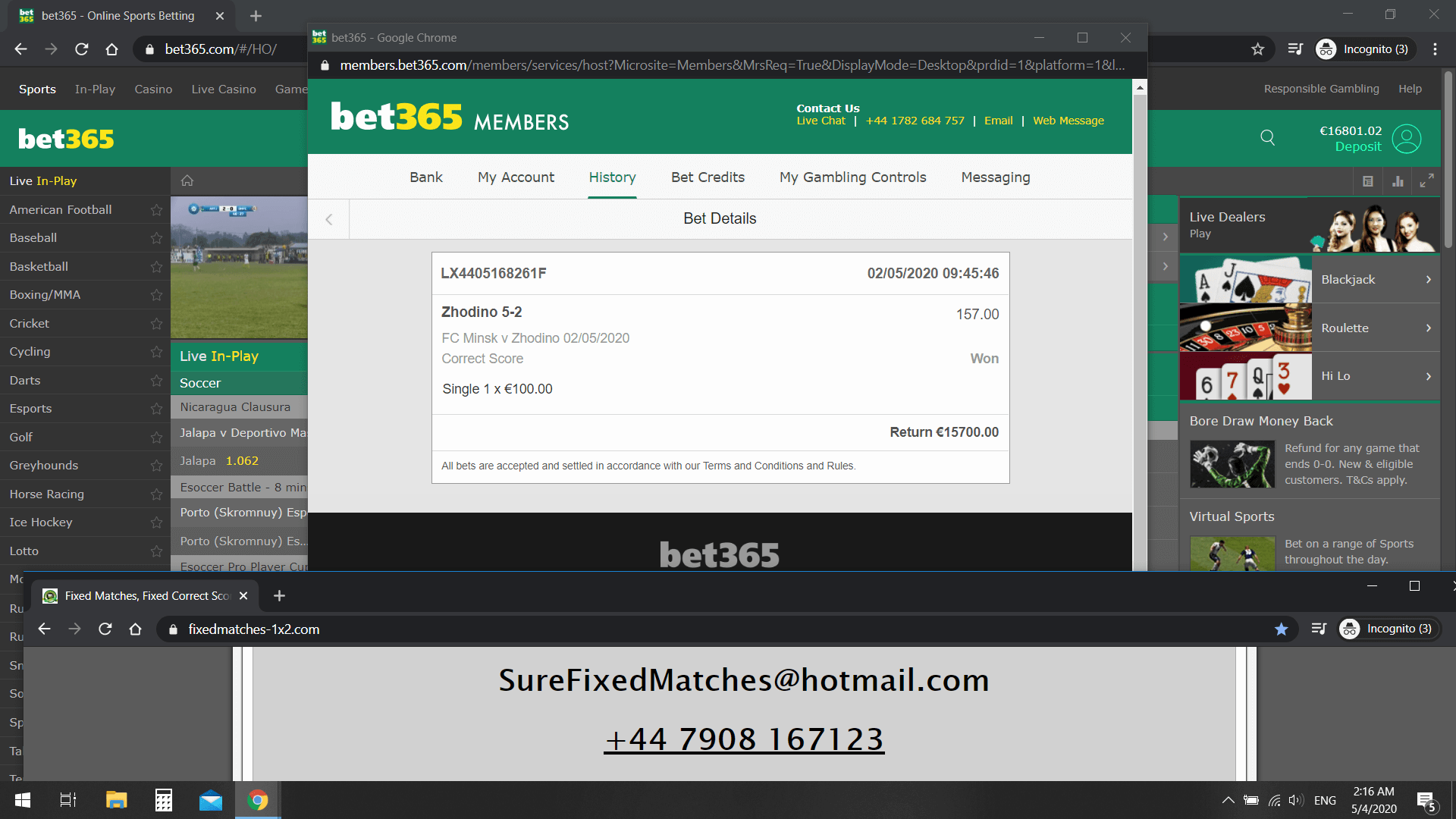 BUY FIXED MATCHES 1X2 PROOF