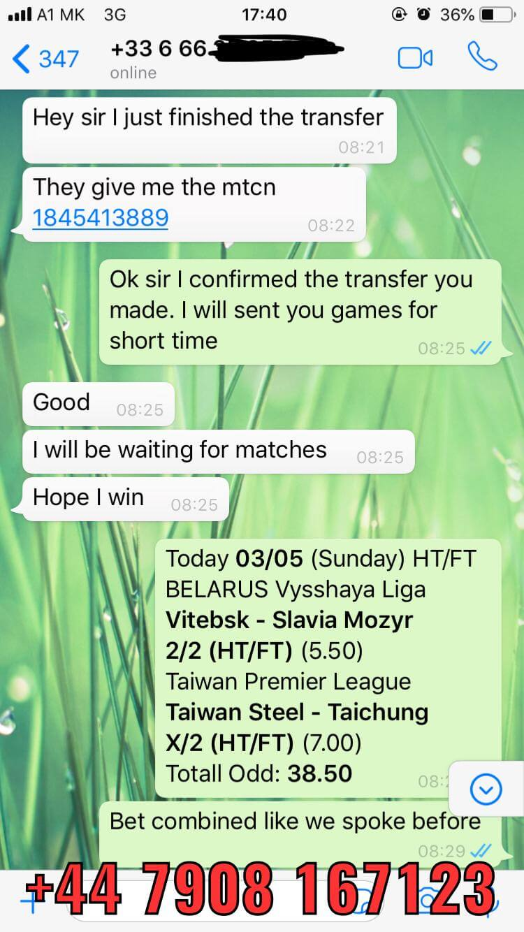 DOUBLE FIXED MATCHES HTFT WON 03 05