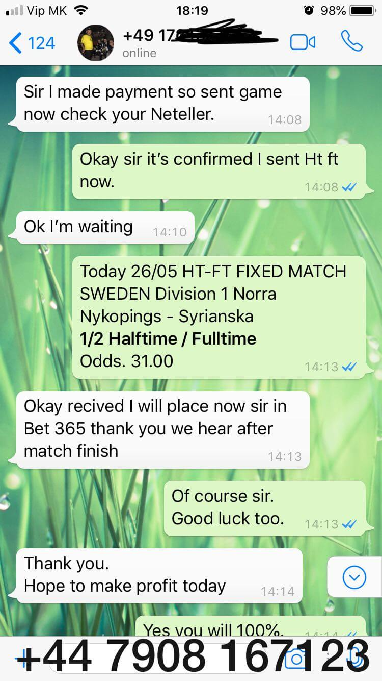 FIXED MATCHES HT FT proofs