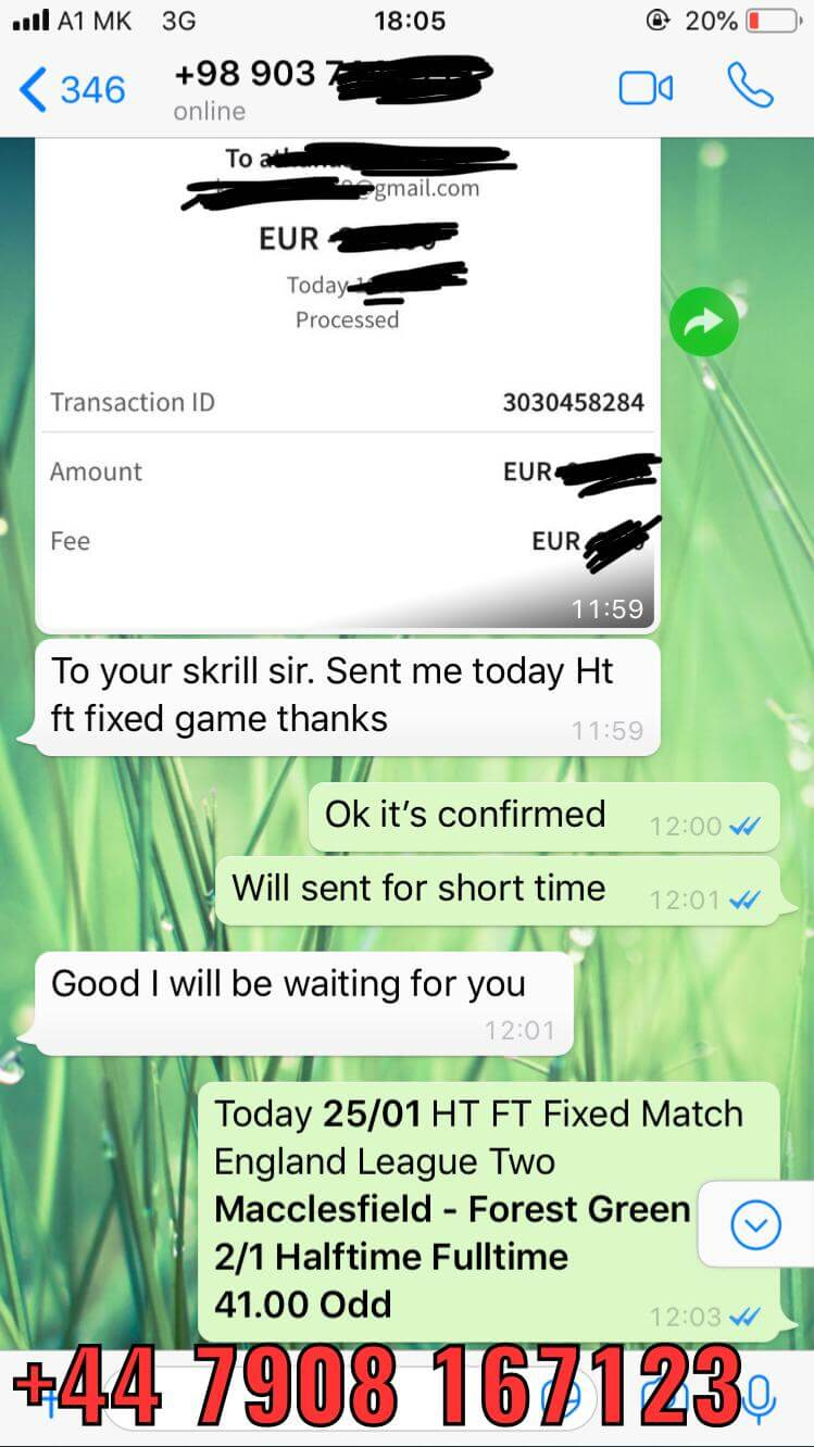 WhatsApp proof ht ft fixed matches