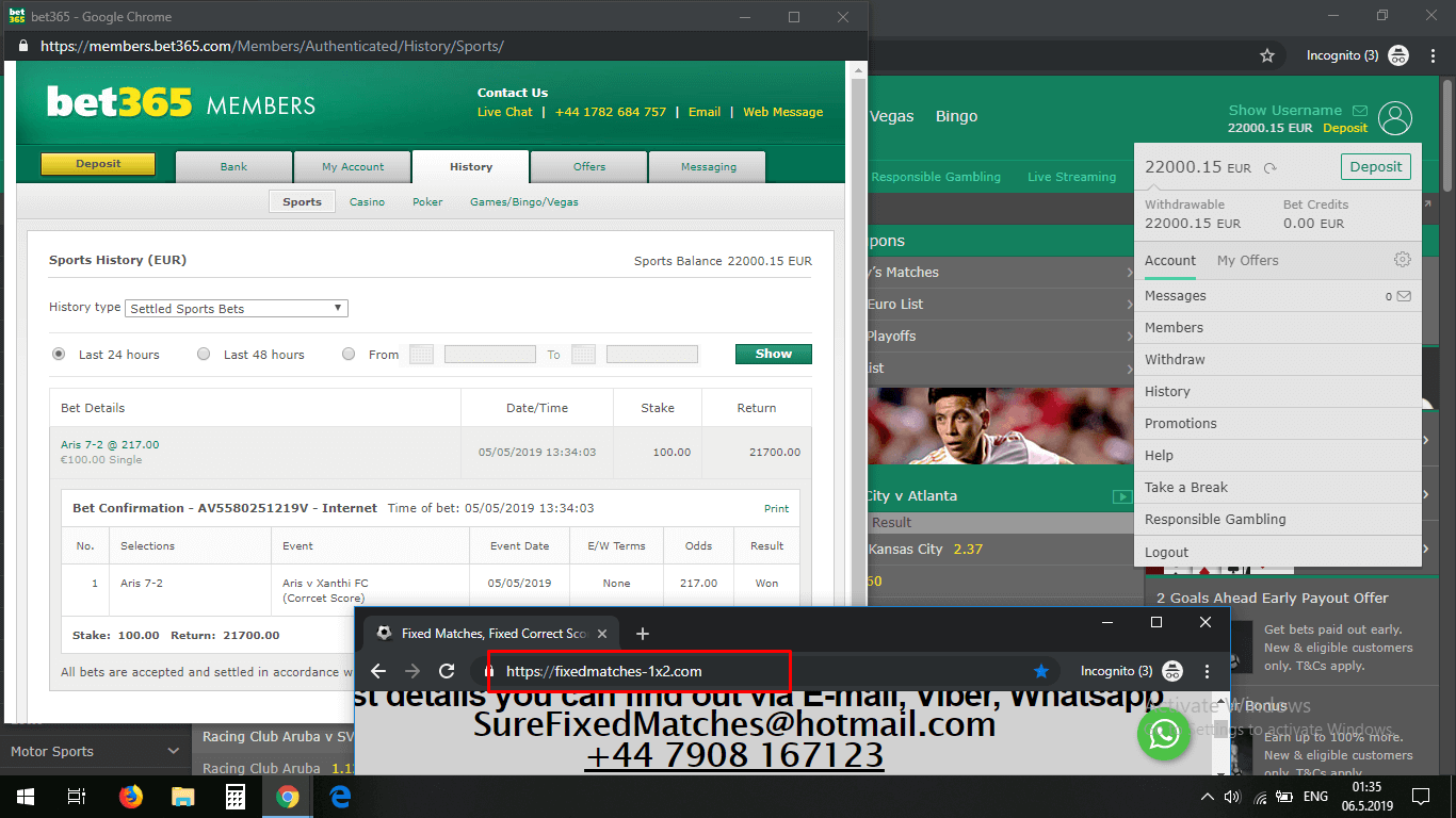 correct score proof bet365