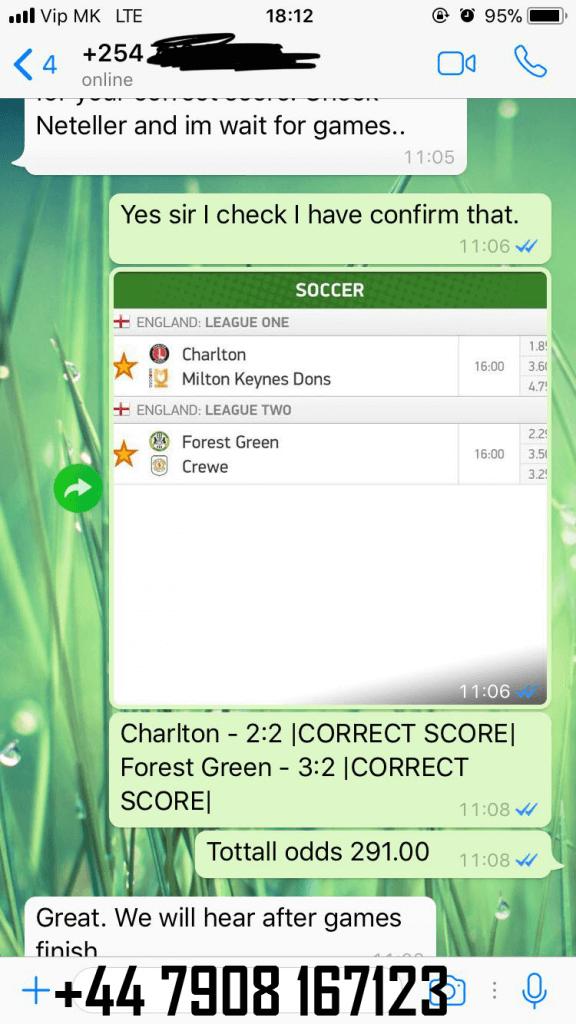 fixed correct score prediction