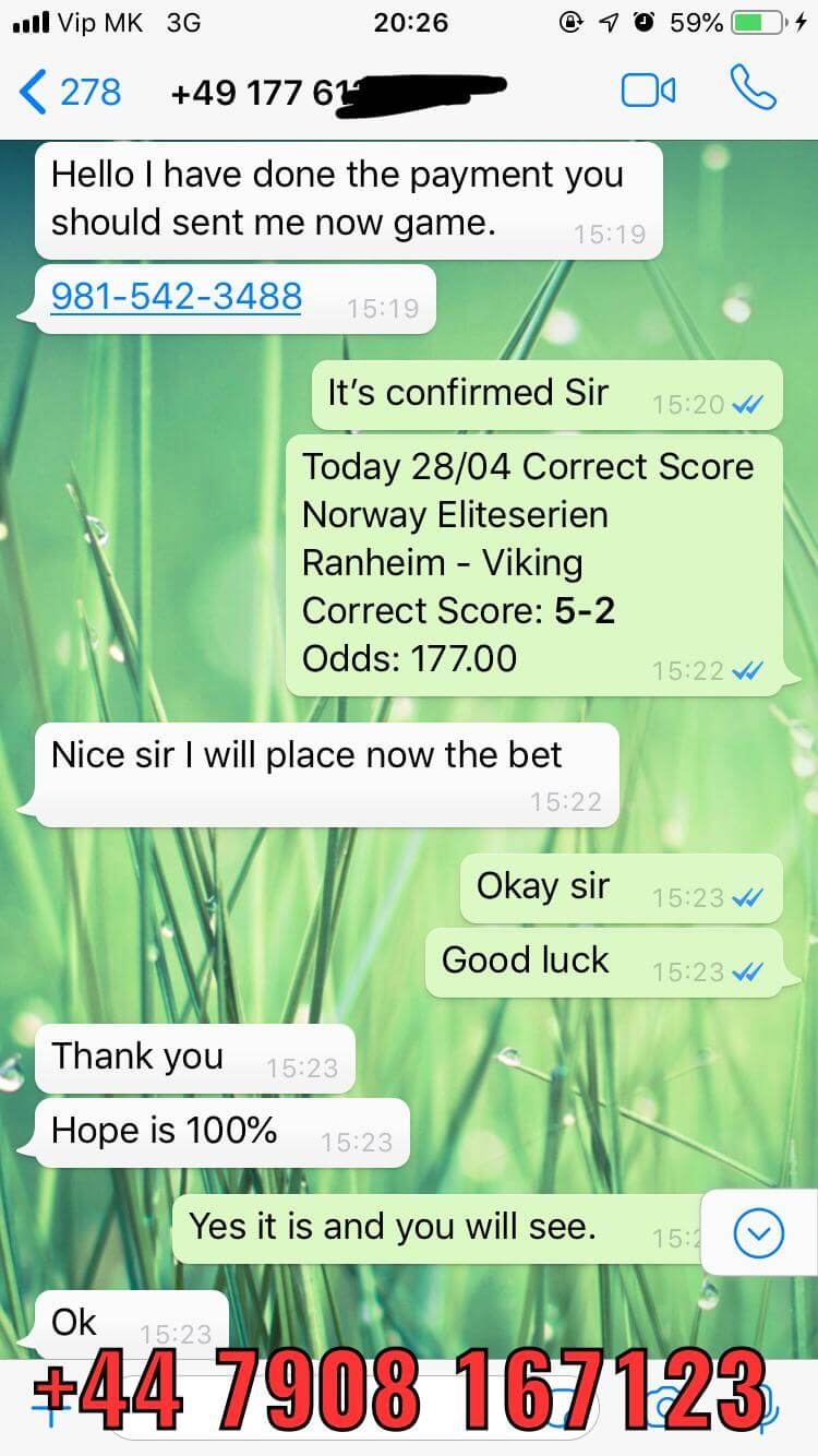 fixed correct score win