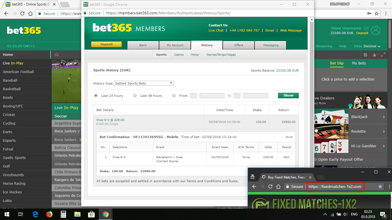 fixed matches correct score