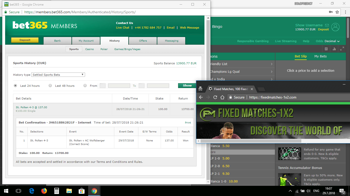 fixedmatches1x2 proof bet365