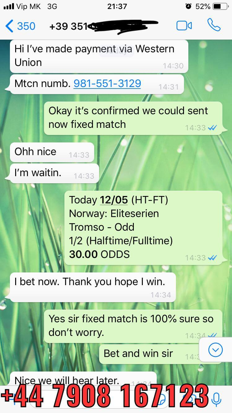 ht ft fixed matches won 30 odd