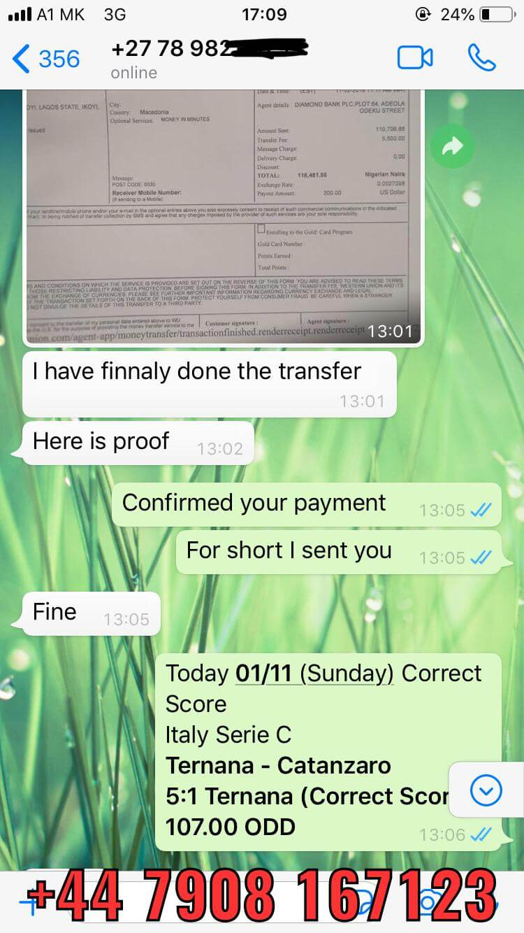 whatsapp fixed matches correct score 01 11