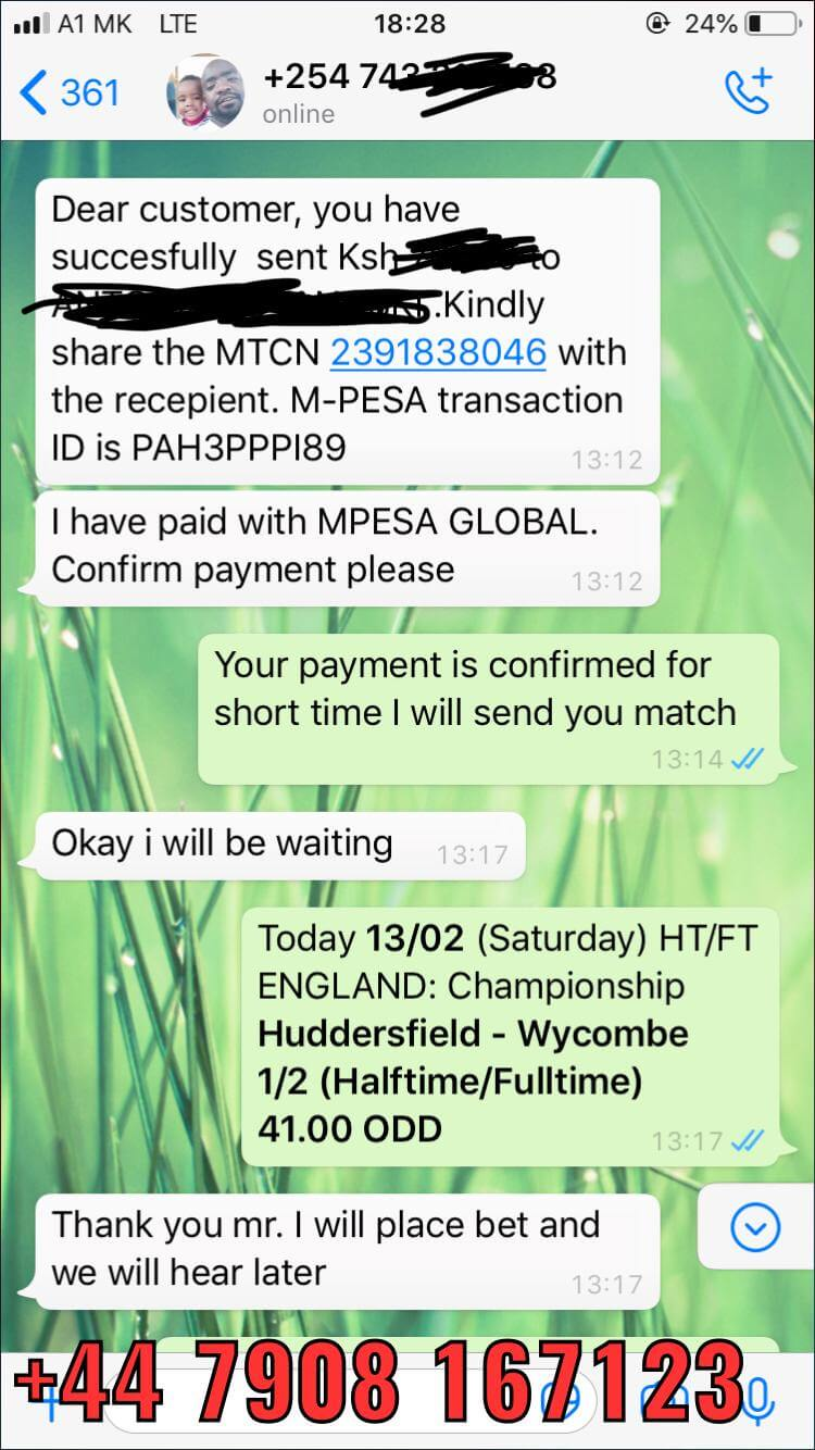 whatsapp fixed matches proof halftime fulltime won 13 02