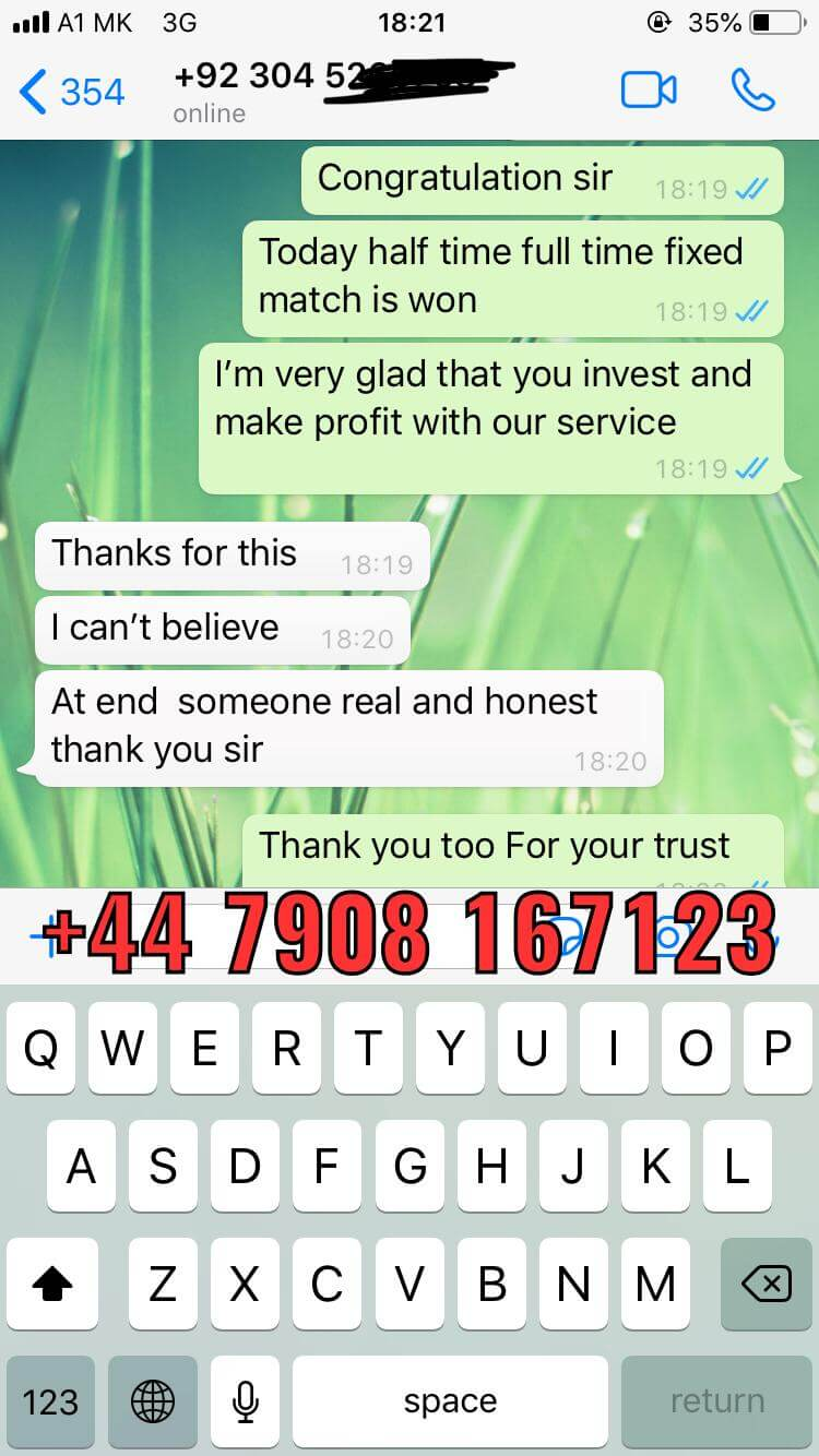 whatsapp proof from fixed matches 17 10