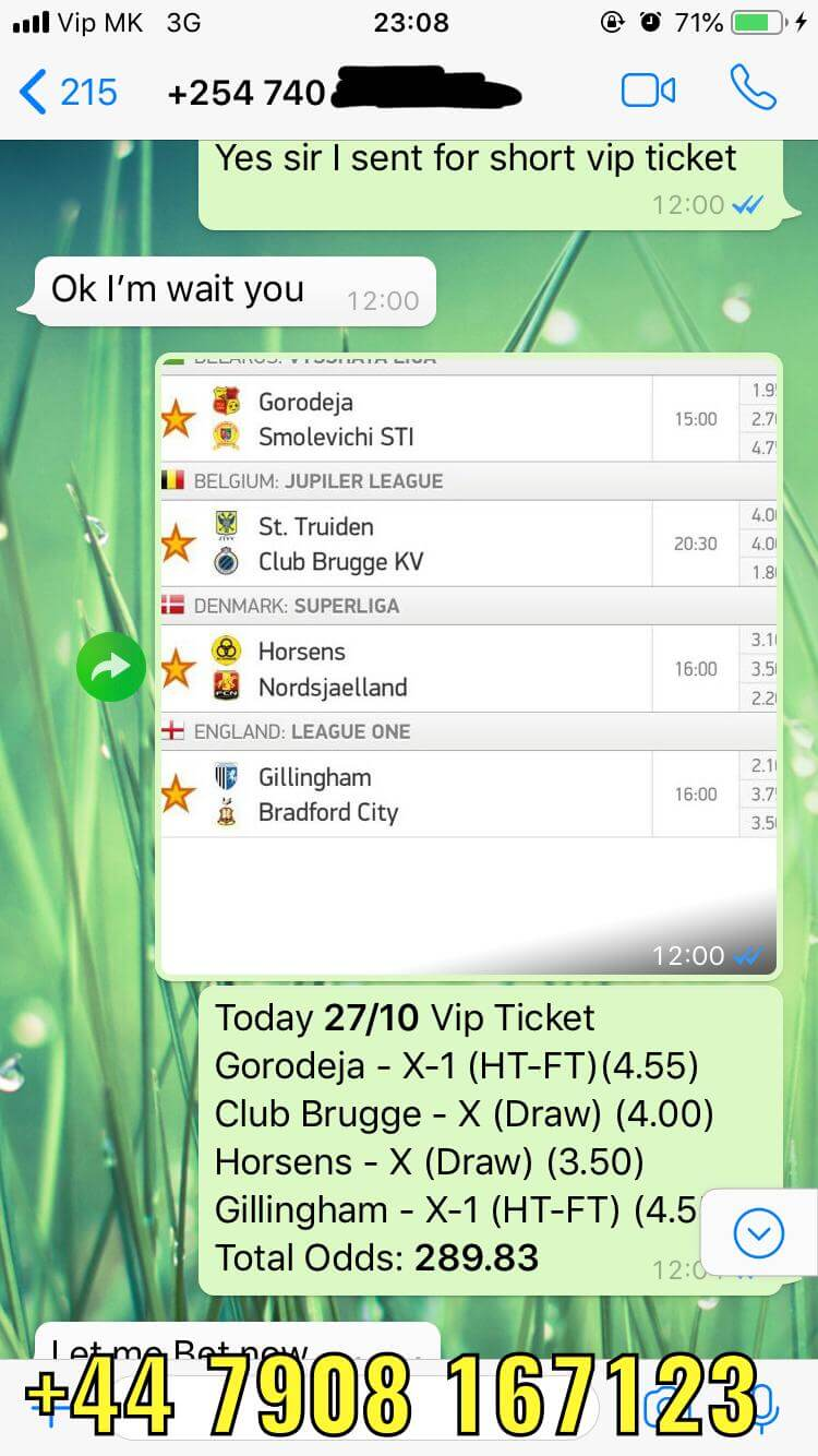27 10 VIP TICKET FIXED MATCHES WON