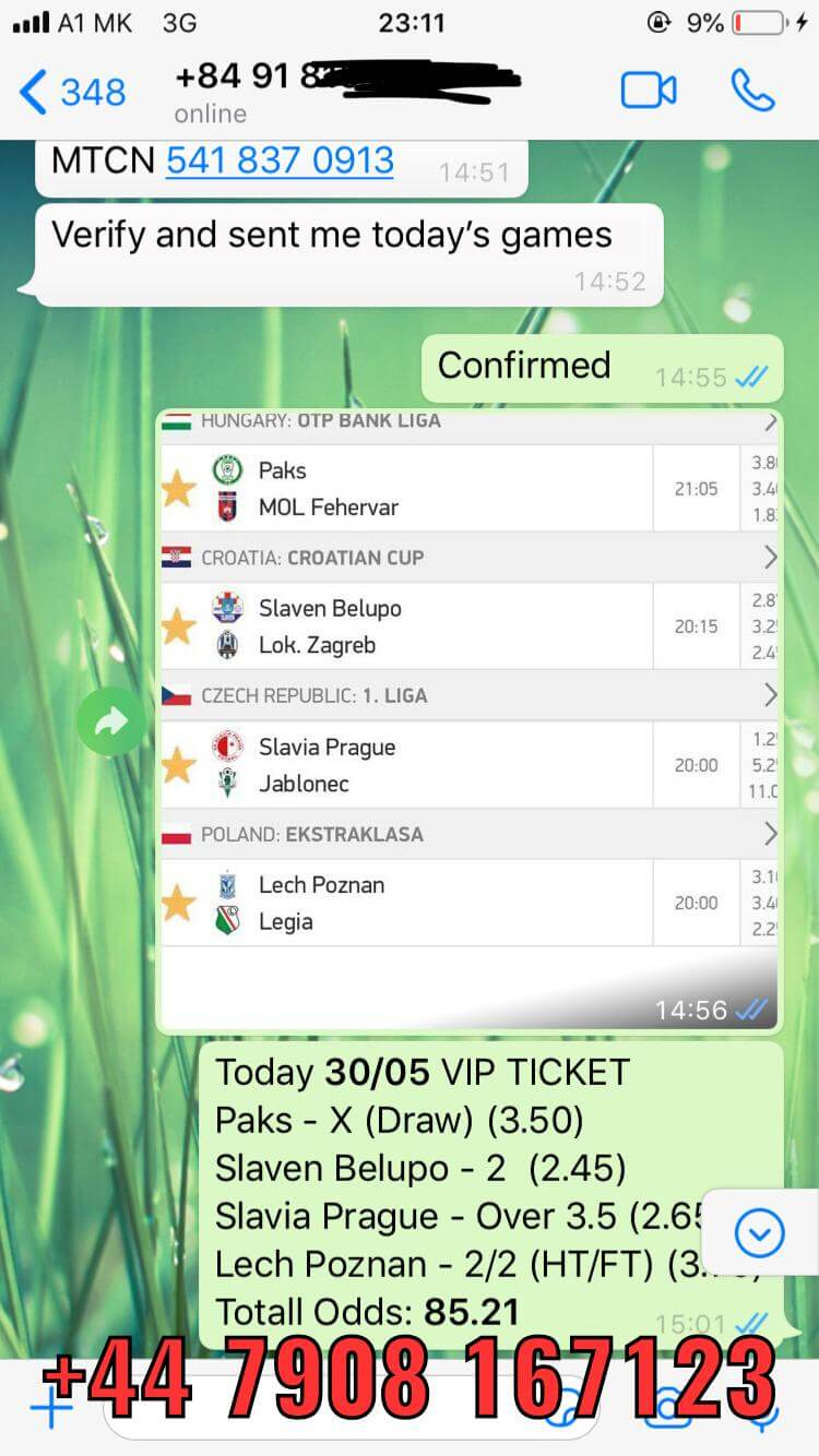 VIP COMBO TICKET FIXED GAMES PROOF