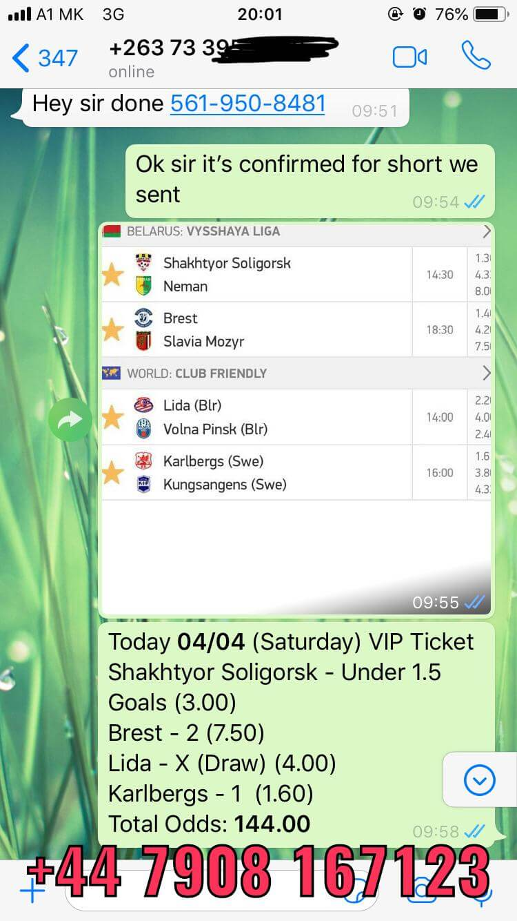 VIP COMBO TICKET WON 144 ODD