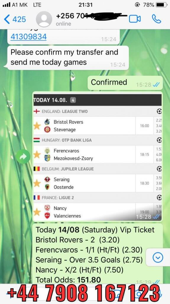 combined vip ticket won solobet 14 08