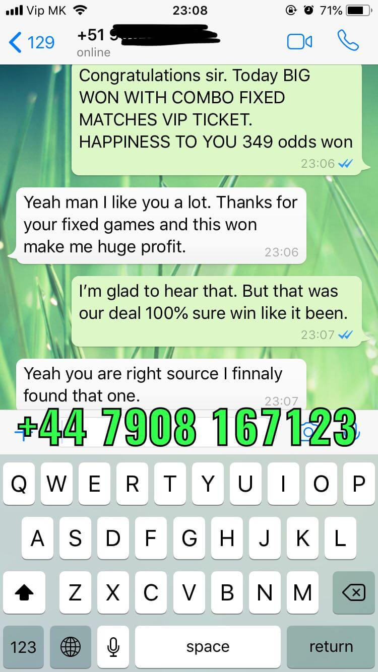 fixed matches combo vip ticket