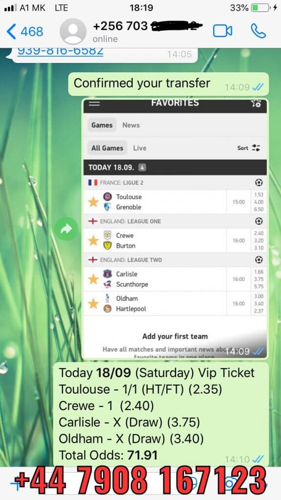 football fixed matches combined solo prediction 18 09