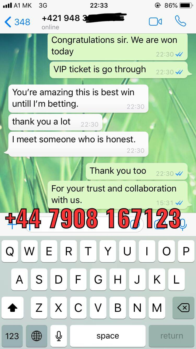 proof whatsapp vip ticket won 11 01