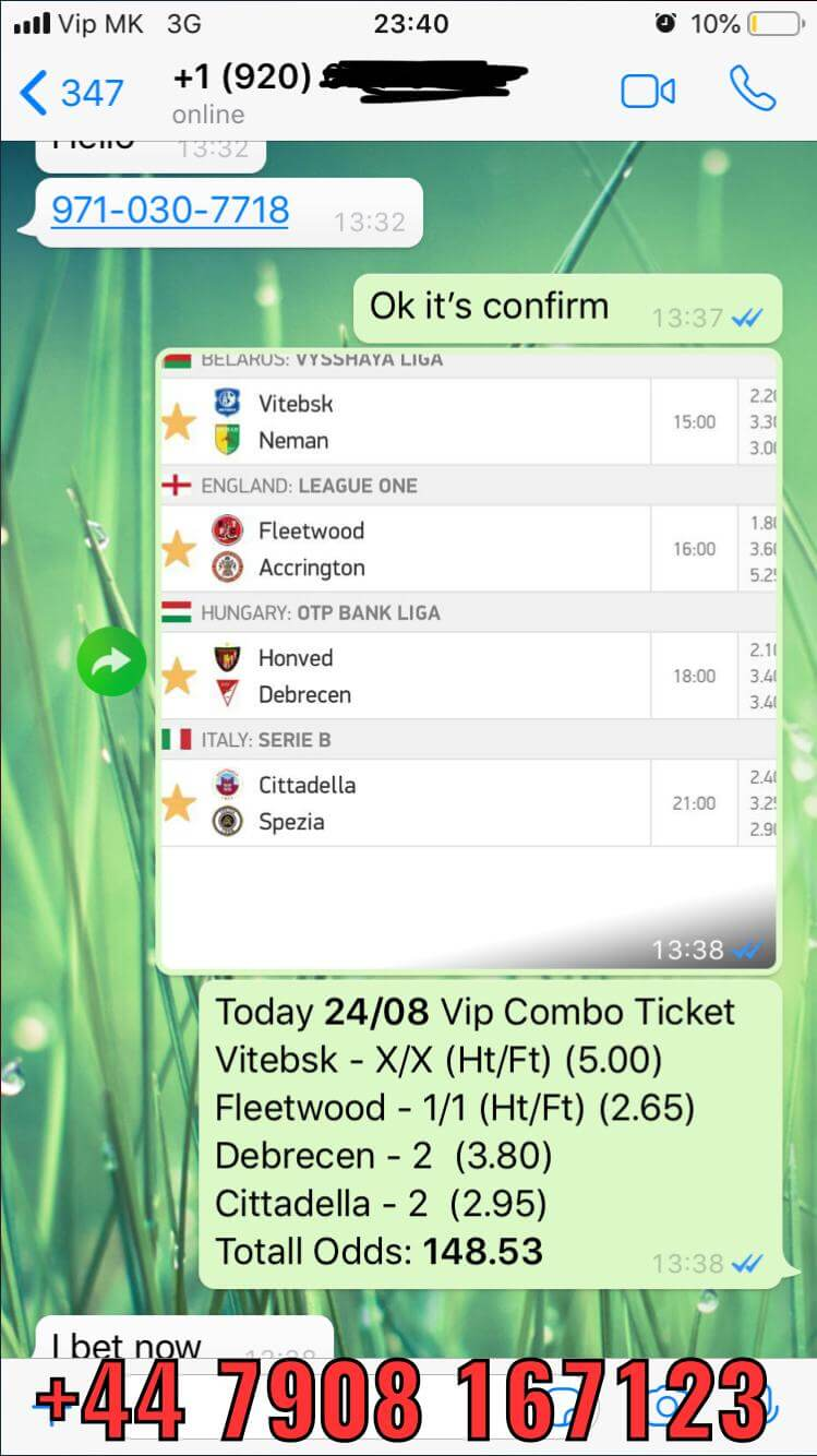 vip combo ticket won matches fixed matches 148 odds