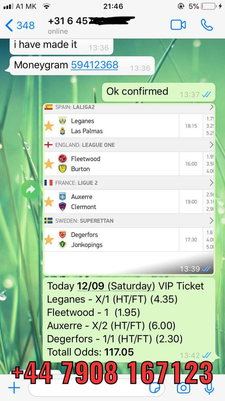 whatsapp combo fixed matches vip ticket 12 09