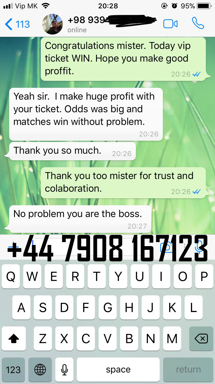 whatsapp proof fixed matches
